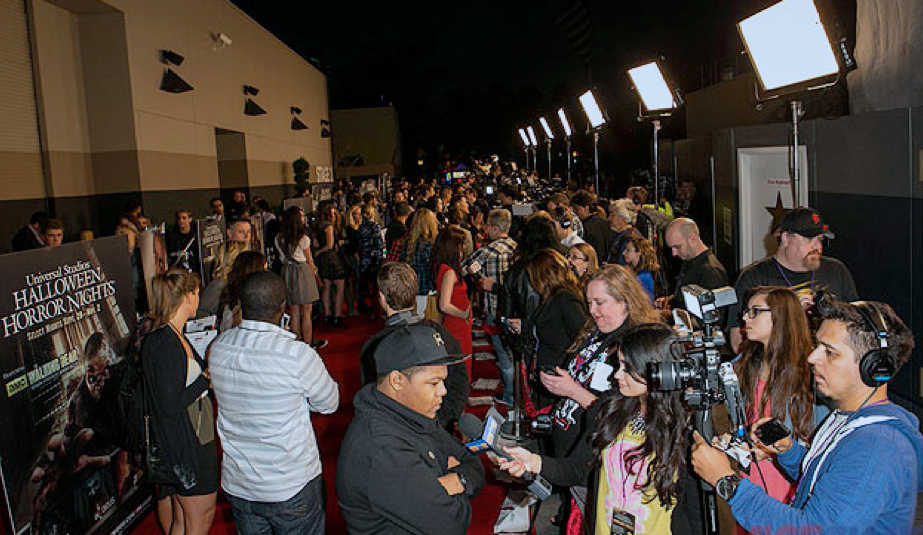 The media turns out for a huge opening night.