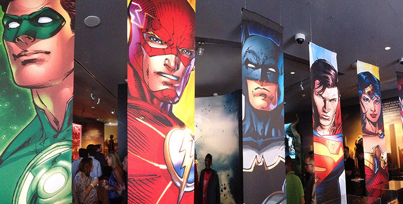 DC Universe Exhibit at Warner Bros. Studio Tour