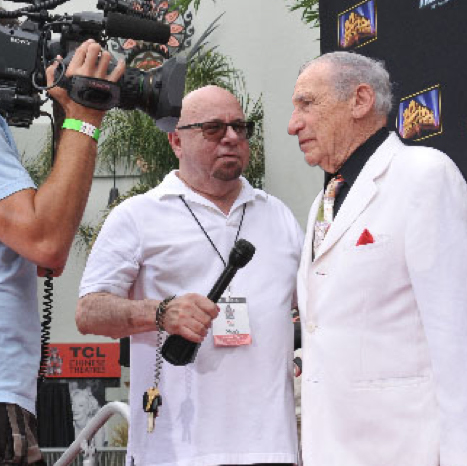 Jerry Digney and Mel Brooks